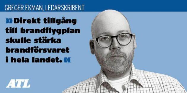 Sverige behöver egna brandflygplan