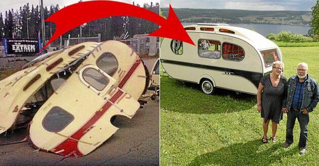 När Leif Nilsson körde den nyinköpta husvagnen till en verkstad i trakten rasade den ihop. Bakom bilen hade han nu ett lass skrot.
