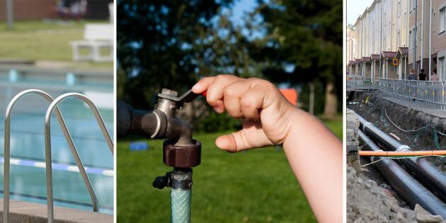 Många kommuner sparade på sommarvattnet 2017