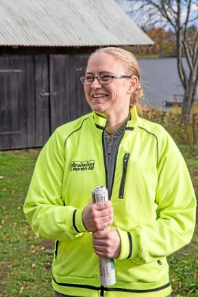Caroline Norlén driver Högsta gård utanför Uppsala tillsammans med sin familj.