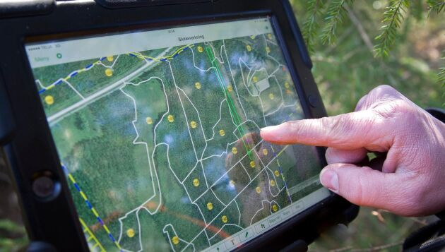 Digitala skogsbruksplaner är lättillgängliga i dator, smartphone eller surfplatta.
