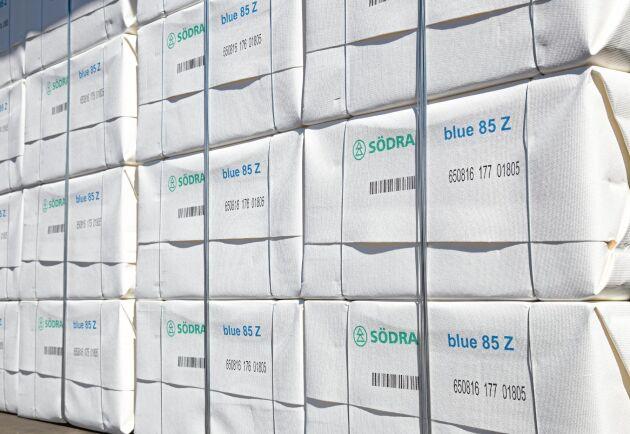 Trots att exporten av pappersmassa minskade med 1,3 procent i volym under årets tre första kvartal så ökade värdet med 23,8 procent.