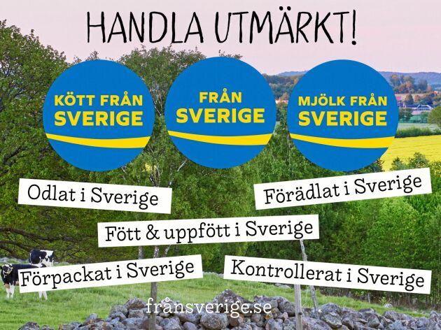 Från Sverige-märkningen syns i varje butik.