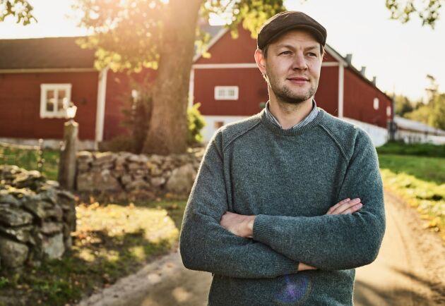 Anders Gunnarsson, lantbrukare på Halla Gård.