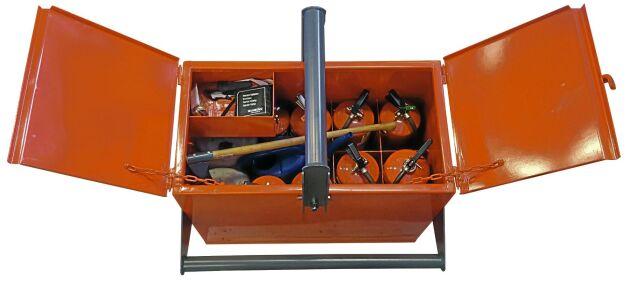 Vallsta skogsmaskiner har flera dotterbolag. Ett av dem är Samsons, som tagit fram Brandboxen.