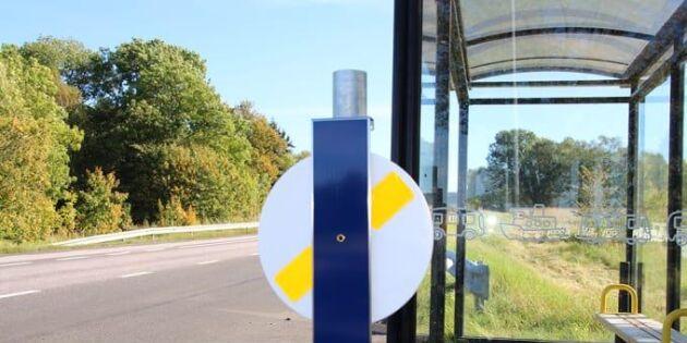 Reflexsnurror hjälper resenärer komma med bussen