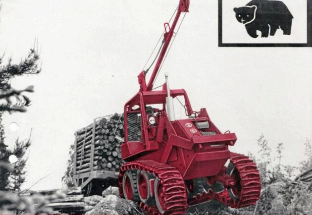 BM Bamse tuffade lugnt och försiktigt fram i skogen. Konstruktionen skulle göra att banden fick ett bättre grepp om marken än andra maskiner på marknaden.