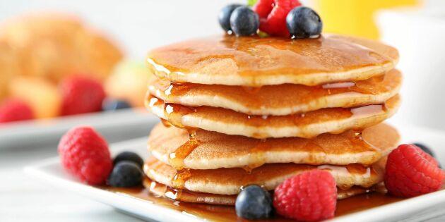 American pancakes – amerikanska tjocka fluffiga pannkakor