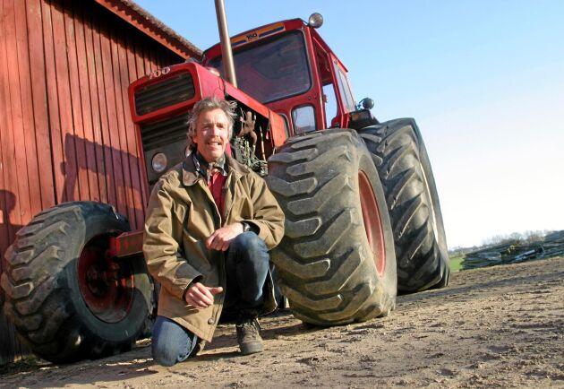 Kenneth Fransson är chefredaktör på tidningen Traktor Power och är med och arrangerar Volvo Dream Team på Borgeby Fältdagar.