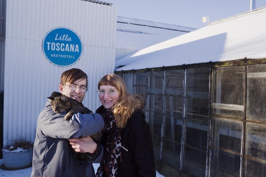 Anette och Zacharias, två unga företagare som etablerat sig på den skånska landsbygden!
