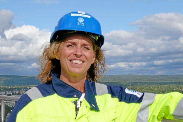 Projektdirektör Ingela Ekebro på SCA.