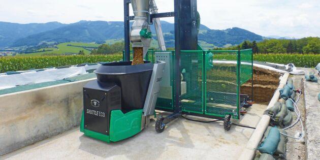 Robotar ersätter vändorna mellan foderkök och silo