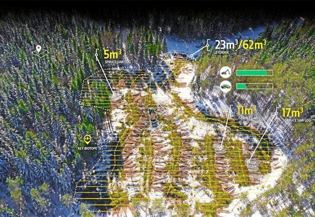 Timbermatic är tänkt att underlätta jobbplaneringen i skogen.