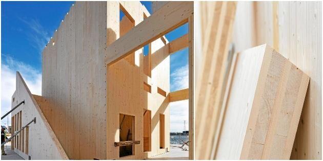 Explosion för svensk produktion av KL-trä