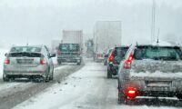 Lastbilskolonn kan bli verklighet vid kraftigt snöfall