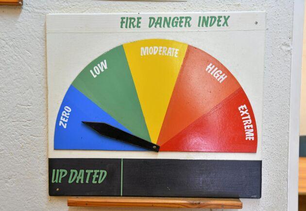 Faran för skogsbrand är påhängande i det torra södra Afrika. På detta sätt förvarnas TWK:s anställda om risken.