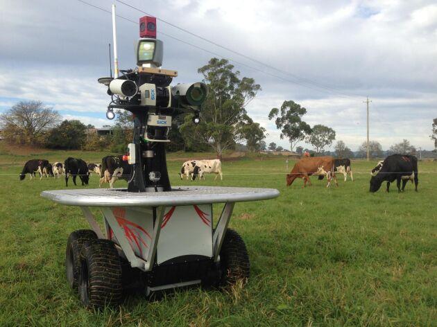 Den här roboten för att övervaka och valla boskap, har utvecklats av Australian Centre for Field Robotics, University of Sidney.