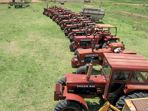 Det fanns tusentals Volvo BM traktorer på gårdarna i Sydafrika vilket var en viktig exportmarknad för den svenska tillverkaren.