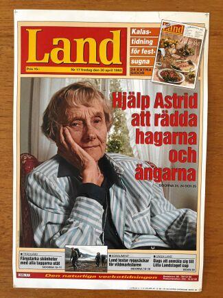 Astrid Lindgren bekostade med egna medel vykortskampanjen i Land för det öppna landskapet!