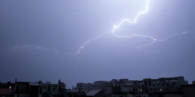 Storm och åska när hettan ska väck
