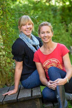 Bella Linde tillsammans med fotografen Lena Granefelt.