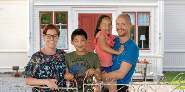 """Familjen Berglund bytte lägenheten mot släktens hälsingegård: """"Vi har hittat hem"""""""