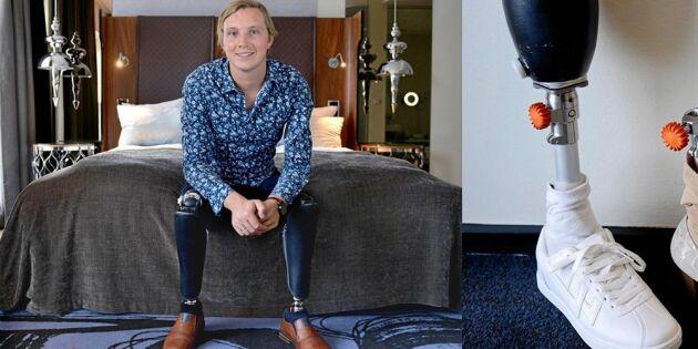"""Christoffer vaknade upp utan ben och med bara en arm: """"Min tävlingsinstinkt vaknade"""""""