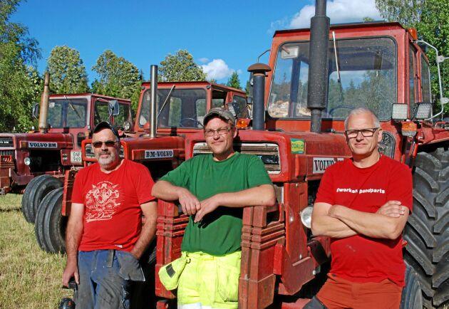 Stefan Lundin, Stefan Hagström och Jonas Gustafsson har alla tre fallit för tjusningen att äga en 810.