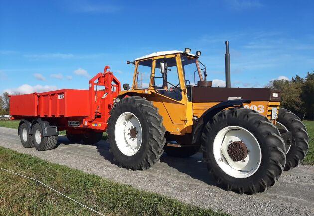 Störst av Nils Hylanders klassika Valmettraktorer är hans 803 från 1982.