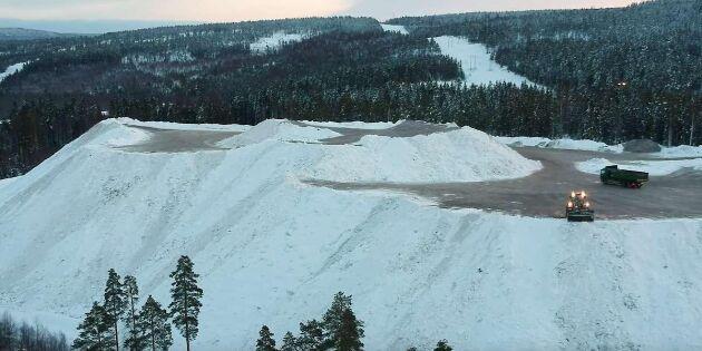 Spana in Sveriges högsta konstgjorda fjäll