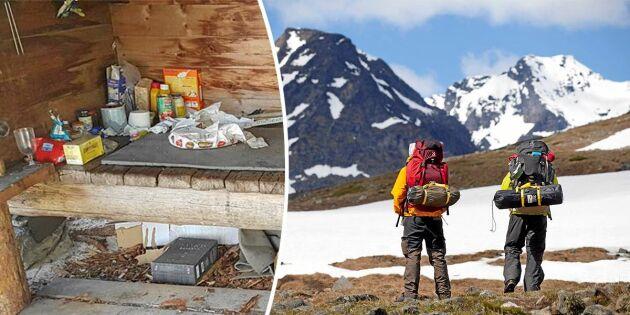 Fler turister ger ökad nedskräpning i fjällen