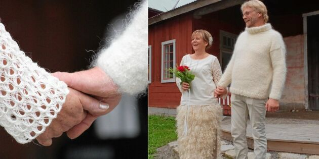 Kolla in Sveriges första helyllebröllop – allt helt i ull!
