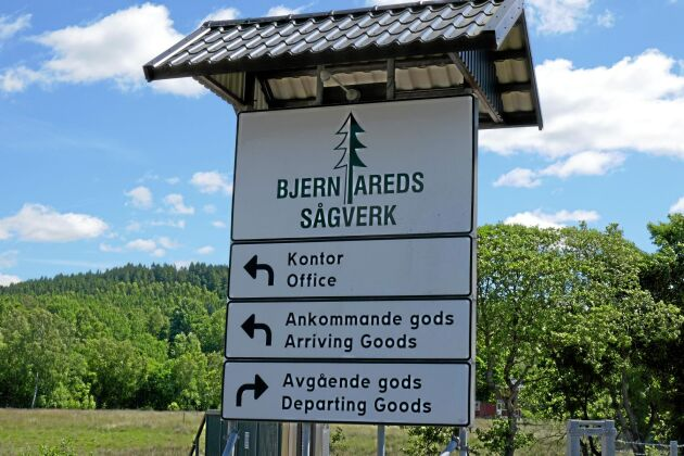 Bjernareds sågverk ligger i Hallands inland.