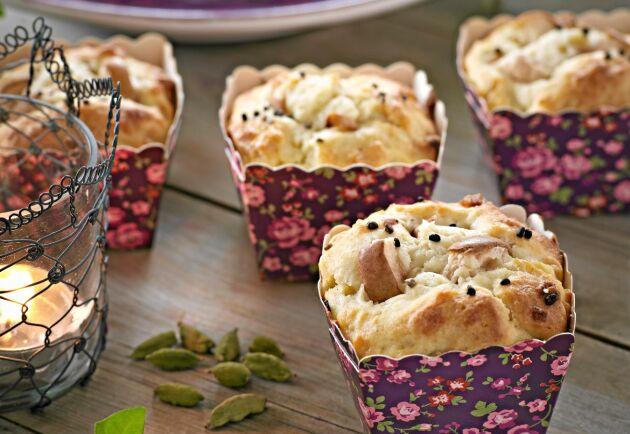 Fina formar lyfter de smakrika muffinsen ytterligare.