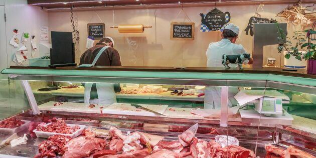 Veganer attackerar kötthandlare i Frankrike