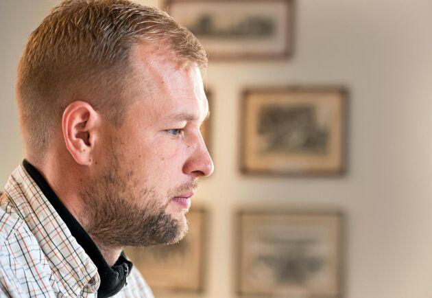 Mathias Knudsen har jobbat med lantbruk på Nya Zeeland men längtade tillbaka till Norden där mycket mer kultur och historia finns på gårdarna.