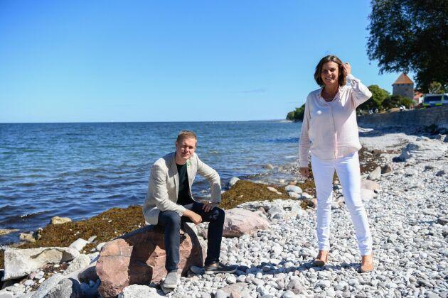 Språkrören Gustav Fridolin och Isabella Lövin (MP).