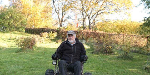 Per har en terränggående rullstol! Kolla filmklippet!