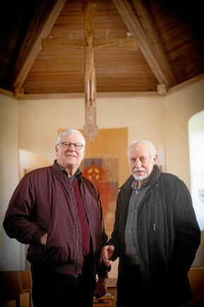 Tage Brolin och Gunnar Andersson i Ledsjö kyrka.