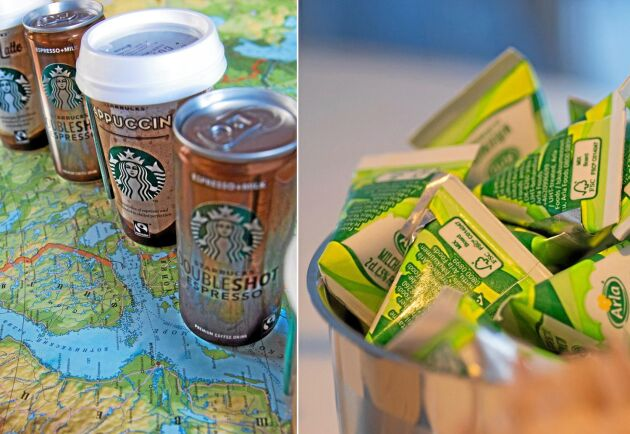 Starbucks mjölkbaserade kaffedrycker som lanserats av Arla finns i 38 olika länder.