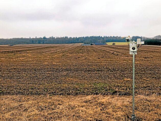 Fieldsenses mätstationer mäter allt från vind till nederbörd och jordtemperatur.