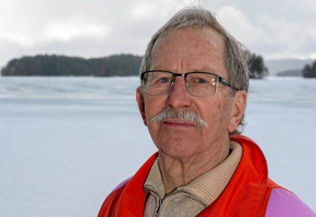 """""""Jag har förlorat en god kamrat. Det kommer alltid att finnas med mig"""", säger Jan Klasson. (Bilden är tagen förra vintern.)"""