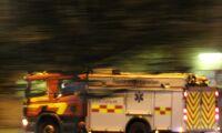Misstänkt mordbrand när ladugård brann