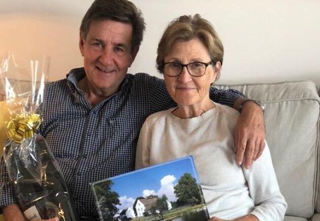 Bild från när Lars och Ann-Mari Jacobi firade 70-årsdag. De fyller år dagarna efter varandra.