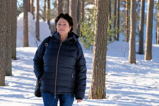 Carola Robertsson behöver inte beskatta skogskontot som hon övertar efter sin man död.