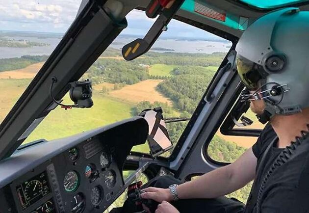 En av MSB:s beredskapslagda helikoptrar.