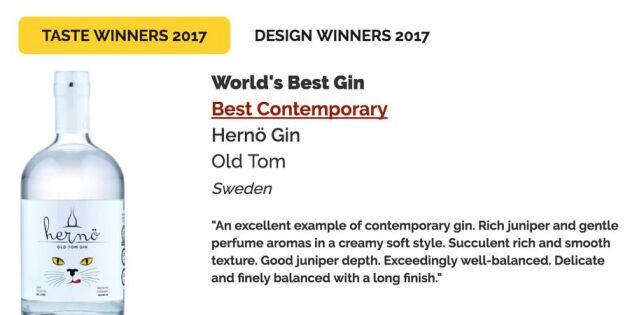 Svensk gin är bäst i världen