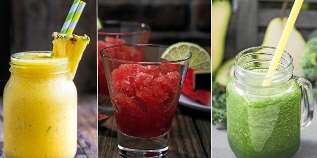 Släck törsten med iskall slush – 5 goda fruktdrinkar du gör själv!