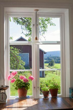 Från köksfönstret ser familjen denna vackra vy.