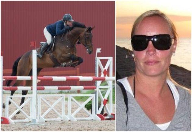 Krögaren Anna Hultberg har egna hästar och tävlar i hoppning. Hon kan tänka sig extrajobb i hästnäringen nu när det är kris i hennes egen bransch.